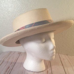 Country Gentleman Panama Band Paper Straw Hat